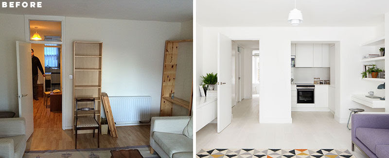 Before And After This Small Apartment In London Was Redesigned To Feel Larger