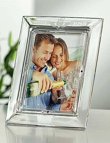 "Galway Crystal Claddagh 5x7"" Photo Frame Crystal Classics"