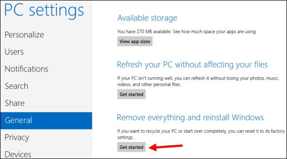 Factory Restore a Windows 8 machine - NCCE's Tech Savvy ...