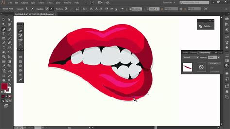 adobe illustrator tutorial lips logo design vector youtube