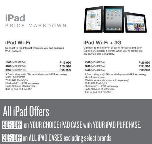 apple ipad price drop