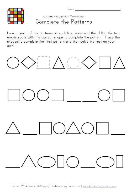 hard pattern worksheet 2bw