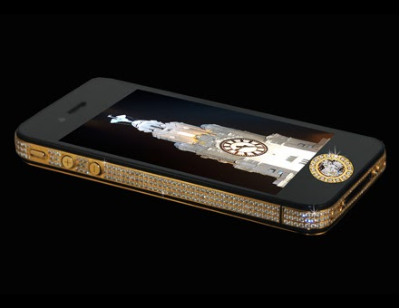 Stuart Hughes 'The most expensive phone' iPhone 4S Elite Gold