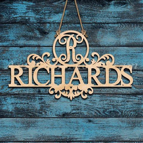 Custom Single Letter Wooden Vine Monogram Sign with