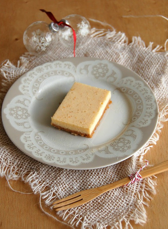 Eggnog bars / Barrinhas de eggnog