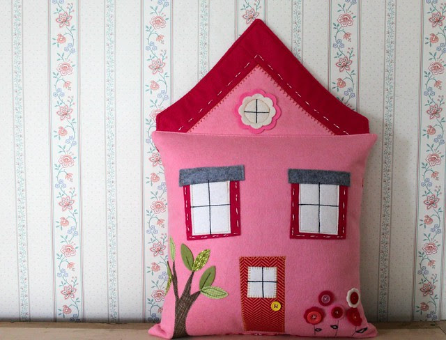 A Pink House PIllow