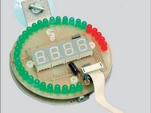 PIC16F88 với đèn LED và chỉ báo hiển thị Tachometer RPM