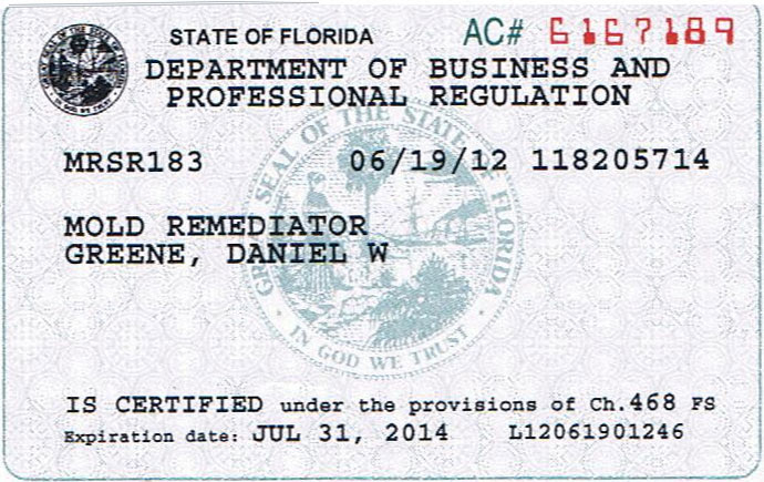 Certifications | Danny's Restoration and Cleaning Tampa ...