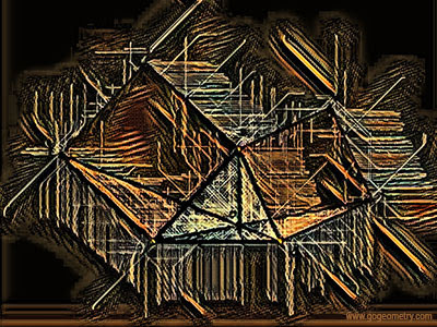 Geometry Art of Problem 499, Triangle, Squares, Drawing, Sketch. Computer Tablet, Software