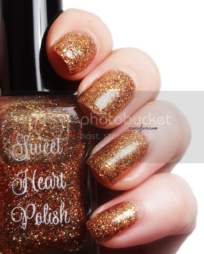 xoxoJen's swatch of Sweet Heart Polish's Inflame & Ignite