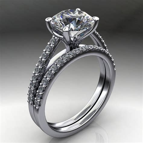 mia ring ? 2 carat diamond cut round NEO moissanite