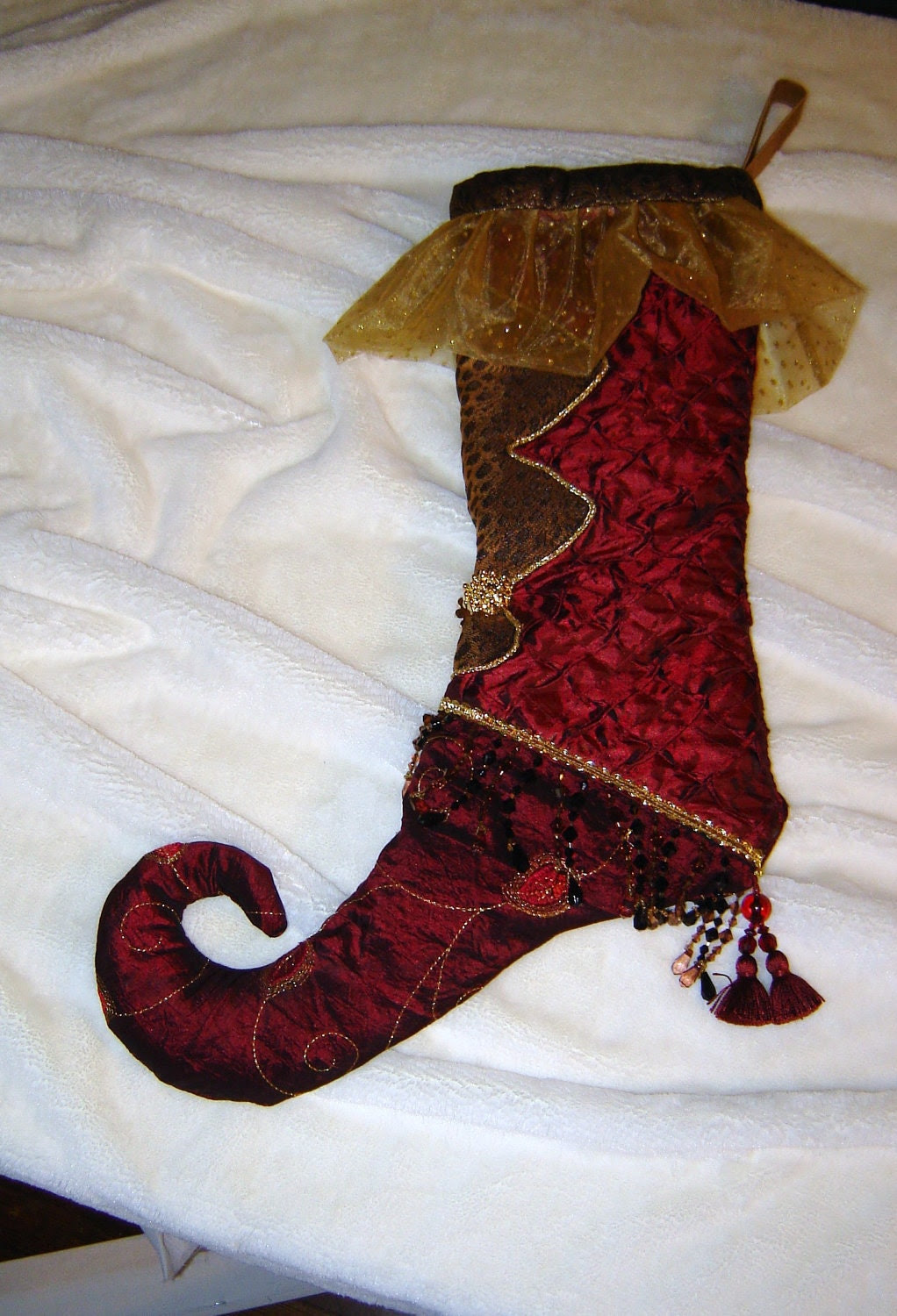 special order- whimsy christmas stocking- this is a sample- not for purchase