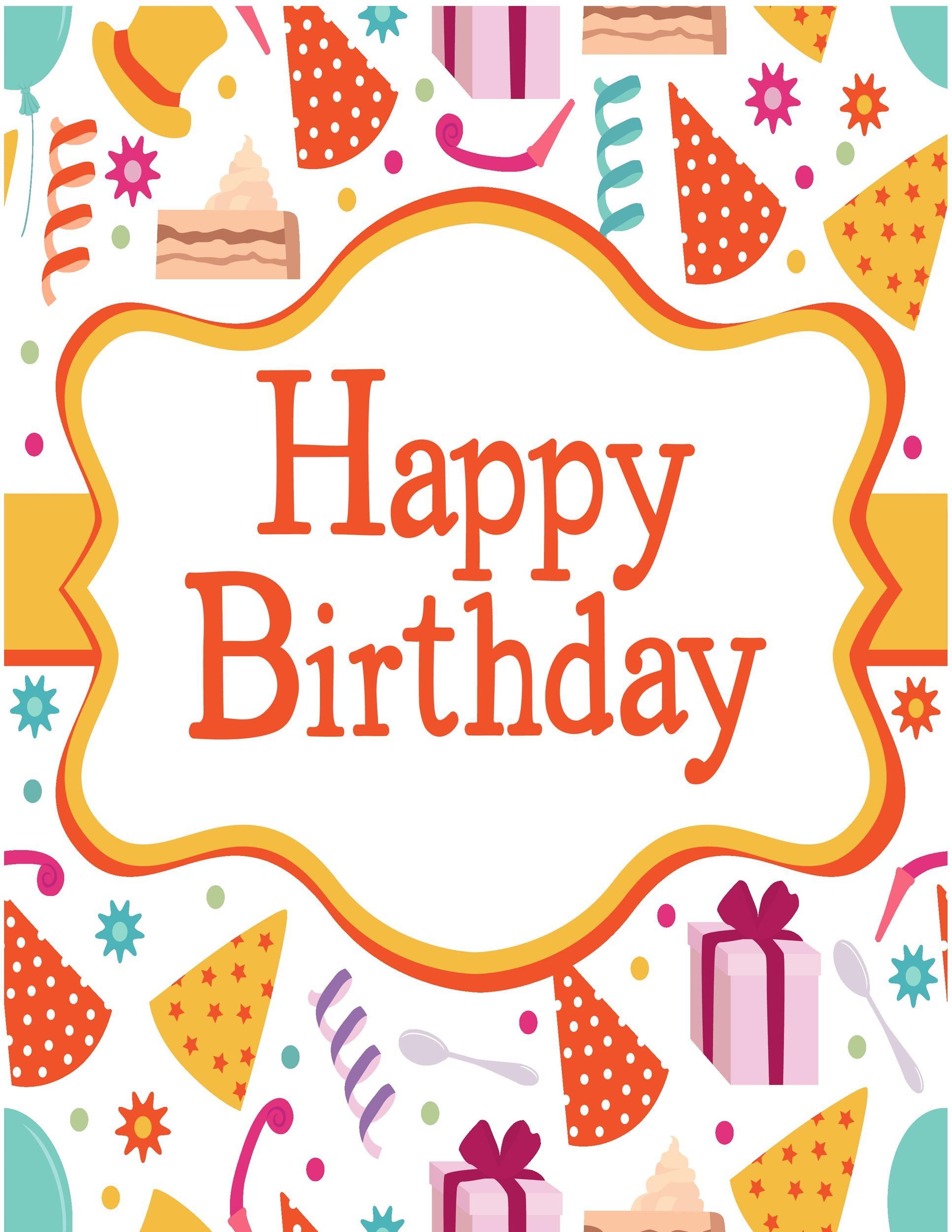 Birthday Card Templates Free Card Design Template