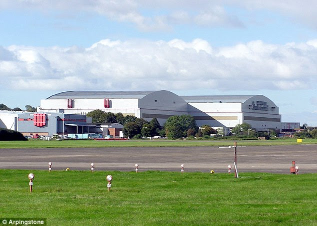 Take off: The village of Charlton was destroyed in 1946 so that the airfield in Filton (pictured) could be extended