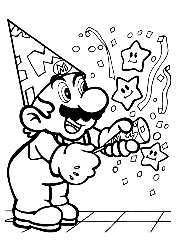Super Mario Bros Characters Coloring Pages Coloring Home Afvere