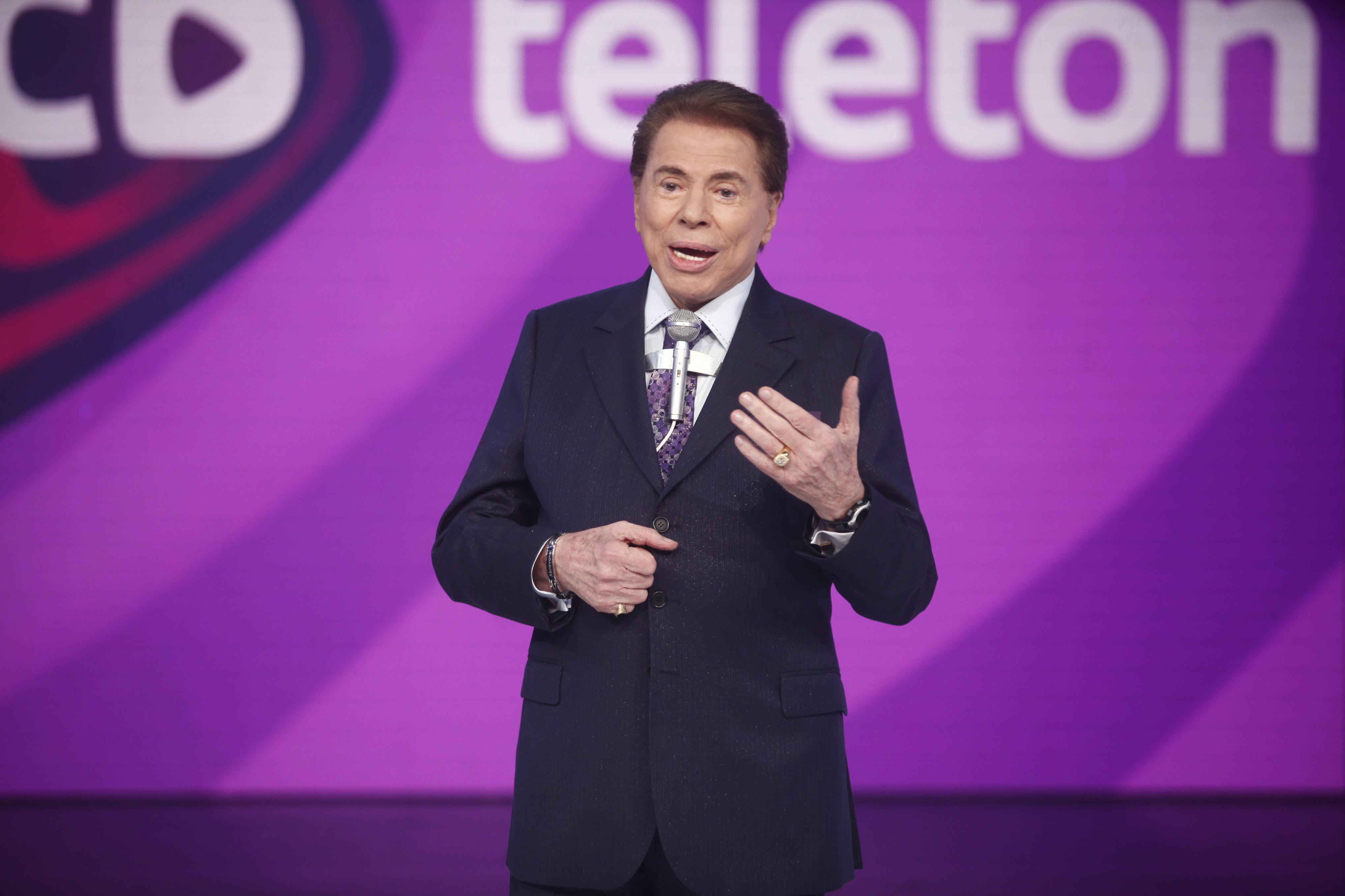 Silvio Santos no Teleton (Foto: Divulgação)