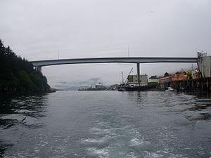 The Near Island Bridge at Kodiak, Alaska.