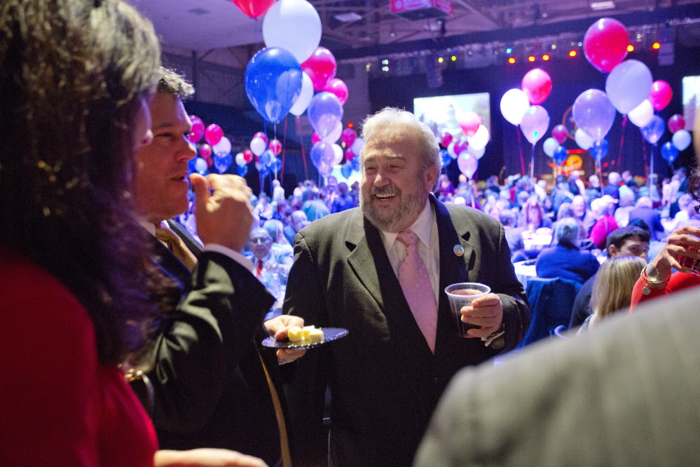 Democratic State Senator Stan Gerzofsky, of Brunswick, attended the inaugural party for Gov. Paul LePage at the Augusta Civic Center on Wednesday.