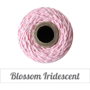 Image of (Limited Edition) Blossom Iridescent Shimmer - Iridescent Metallic & Blossom Pink Baker's Twine