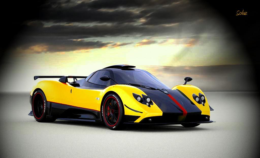 Yellow Pagani Zonda Cinque Roadster Supercars Gallery