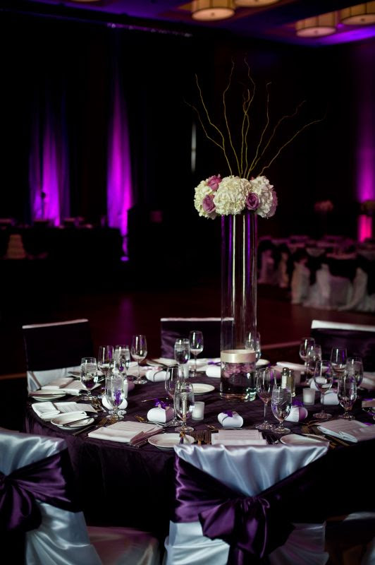 Purple And Black Wedding Decorations