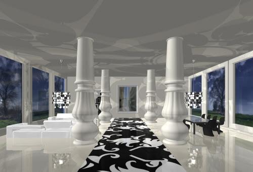 Black and White Interior Design Concepts by Milla Rezanova