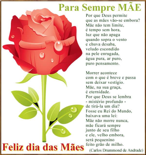 mensagem de feliz dia das mães para facebook com poema