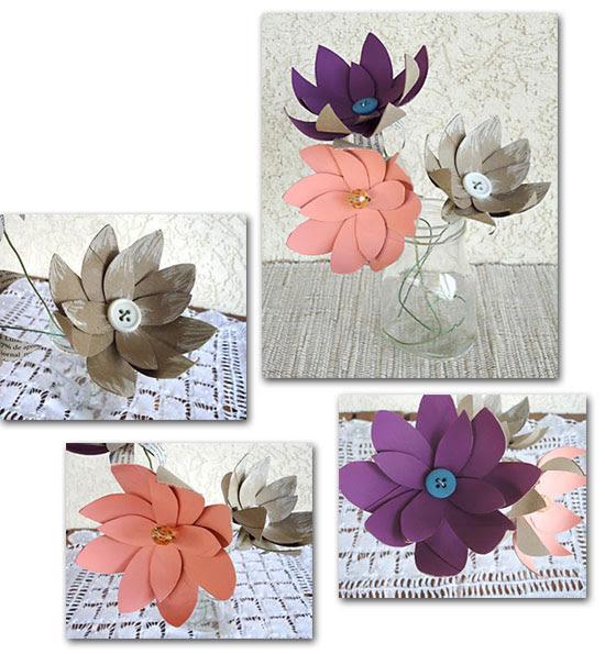 Flores de tolo de papel higiênico: simples mais muito charmosas