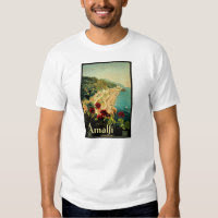 Vintage Travel, Amalfi Italian Coast Beach T-shirt