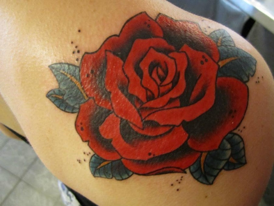 Red Rose Tattoo By Hania Sobieski Tattoomagz