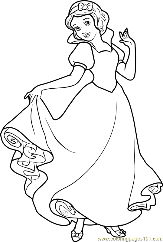 Snow White Coloring Pages For Kids Printable Coloring And Drawing