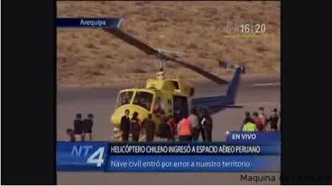 Nave chilena en Arequipa sobrevoló base de Locumba