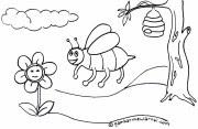 Contoh Gambar Mewarnai Lebah Auto Electrical Wiring Diagram