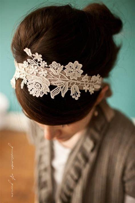 25  best ideas about Lace Headbands on Pinterest   Diy