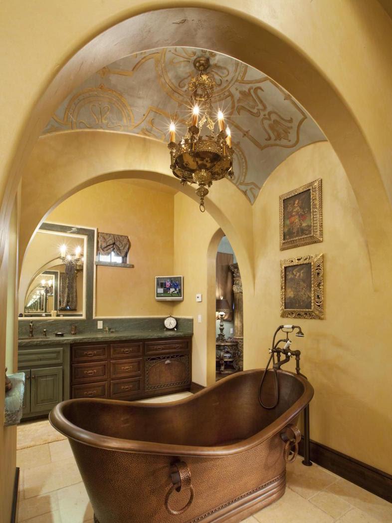 23 Elegant Mediterranean Bathroom Design Ideas | Interior God