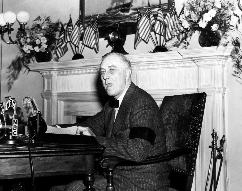 President Franklin D. Roosevelt during his first address to the nation after the attack. (Photo: CSU Archives/Newscom)