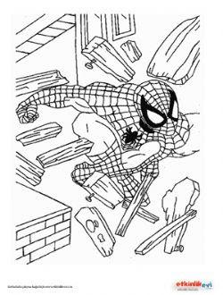 1sınıf Boyama Etkinliği örümcek Adam Etkinliği
