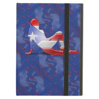 Puerto Rican Girl Silhouette Flag iPad Air Covers