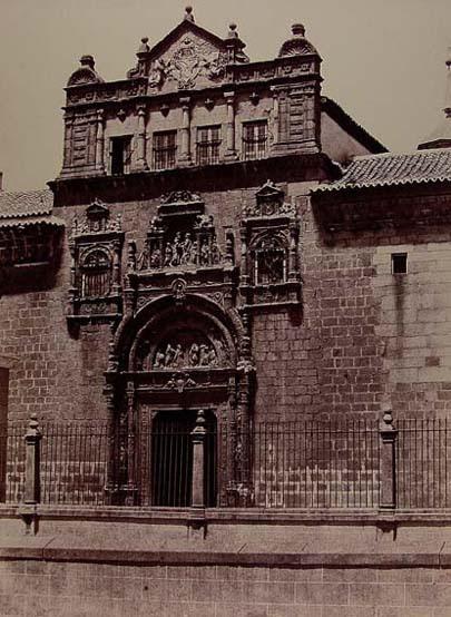 Hospital de Santa Cruz en 1858. Fotografía de Gustave de Beaucorps. Fondo Fotográfico de la Universidad de Navarra