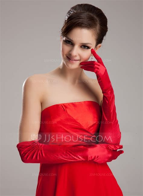 Elastic Satin Opera Length Party/Fashion Gloves/Bridal