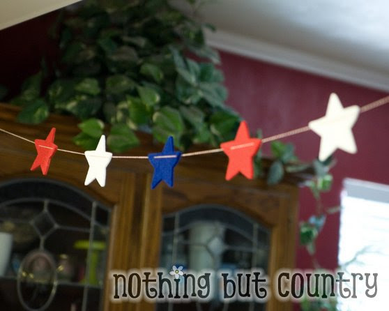 Decorating on a budget – Star Garland – 4th of July   Nothing But