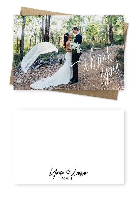 12 BEST Rustic Wedding Photo Thank You Cards   Dream