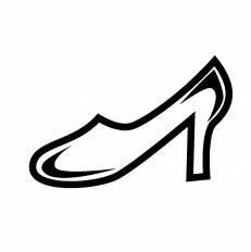 ガラスの靴シルエット イラストの無料ダウンロードサイトシルエットac