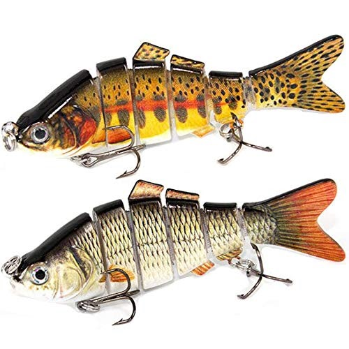Swimbait Artificiale Multi snodata esca da Pesca Minnow Esche Dure Gancio Tackle
