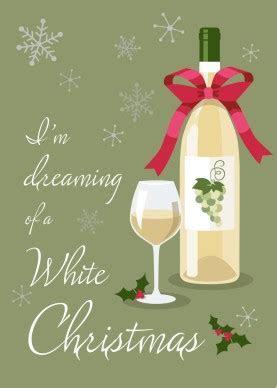 Printable White Wine Christmas Card Template