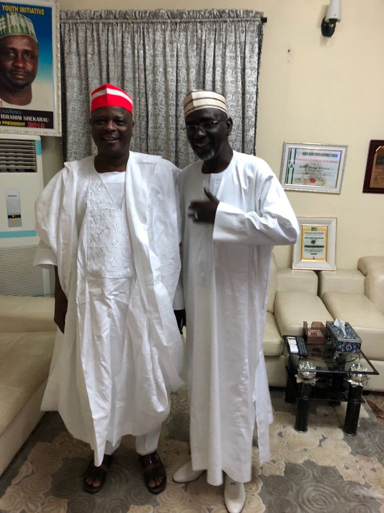 Senator Kwankwaso Visits Former Governor Shekarau In Abuja (Photos)