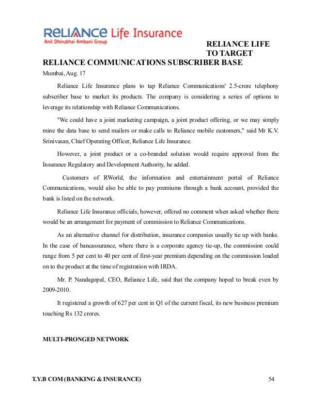 Reliance Life Insurance Plans - METRO BUCKS INSURANCE