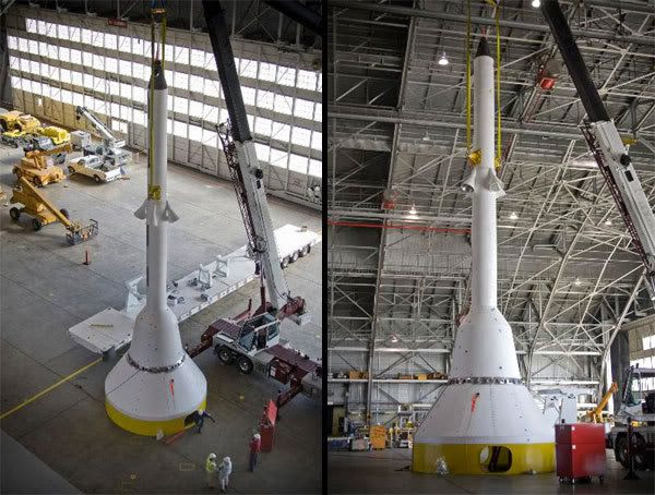 The boilerplate mockup of the Orion spacecraft at NASA's Langley Research Center in Virginia.