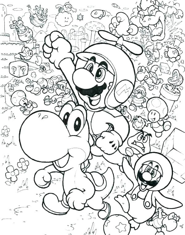 Super Smash Bros. coloring pages | Print and Color.com | 760x600