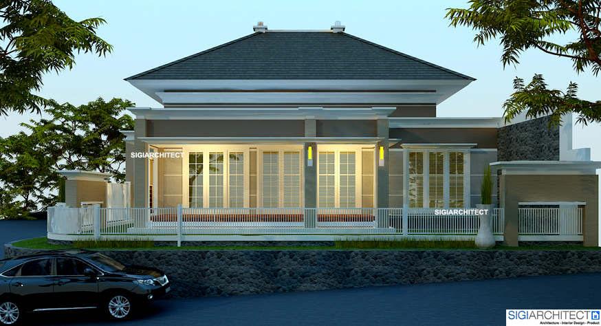 Rumah Villa Klasik Kolonial di Kavling Pojok 3